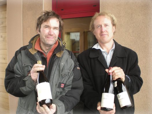 Paul with Jean Louis Trapet, Trapet Winery, France.