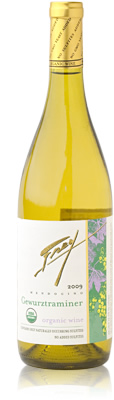 Frey Organic Gewurztraminer wine bottle