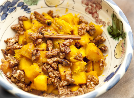 Roasted Pumpkin Walnut Dish