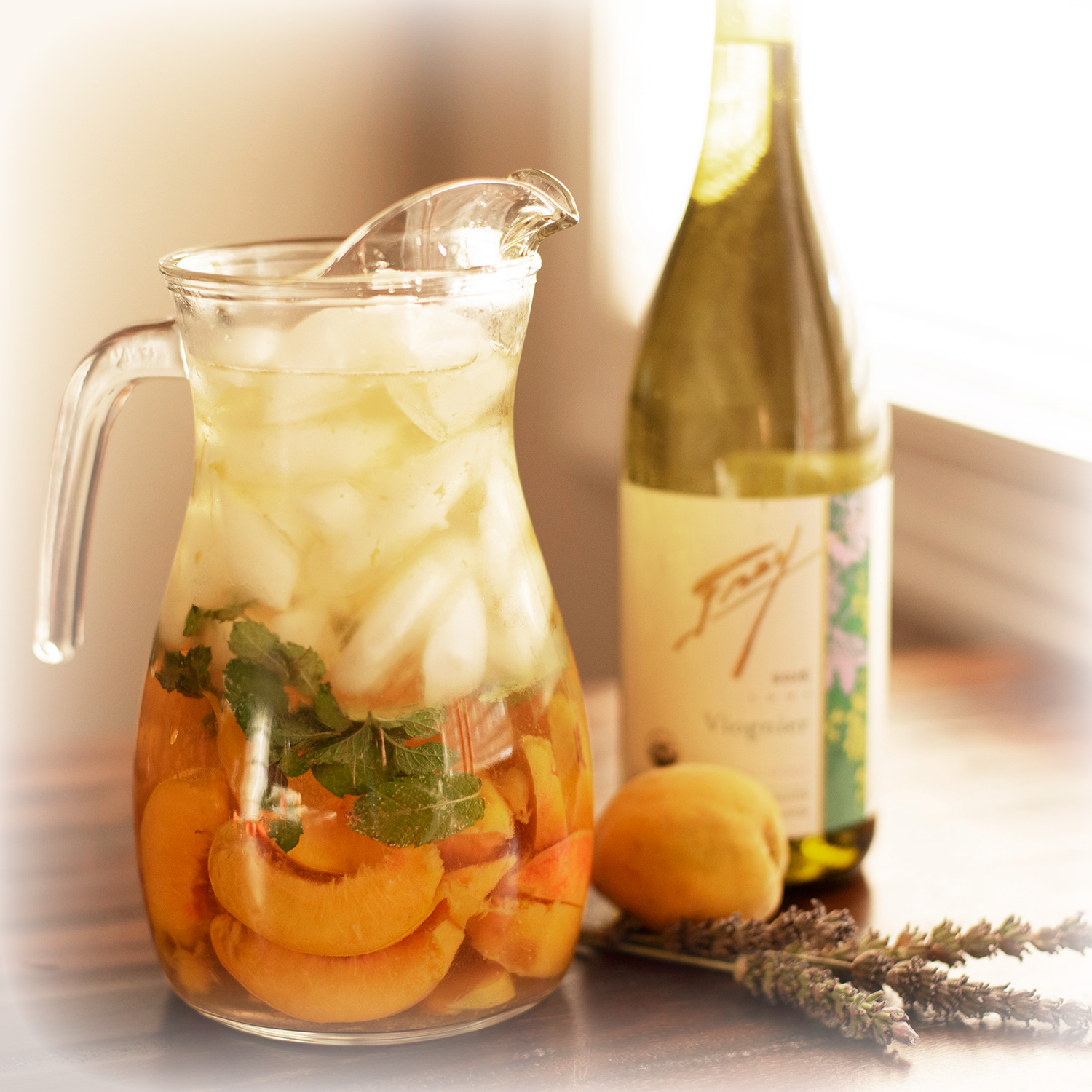 Organic sangria with frey wine