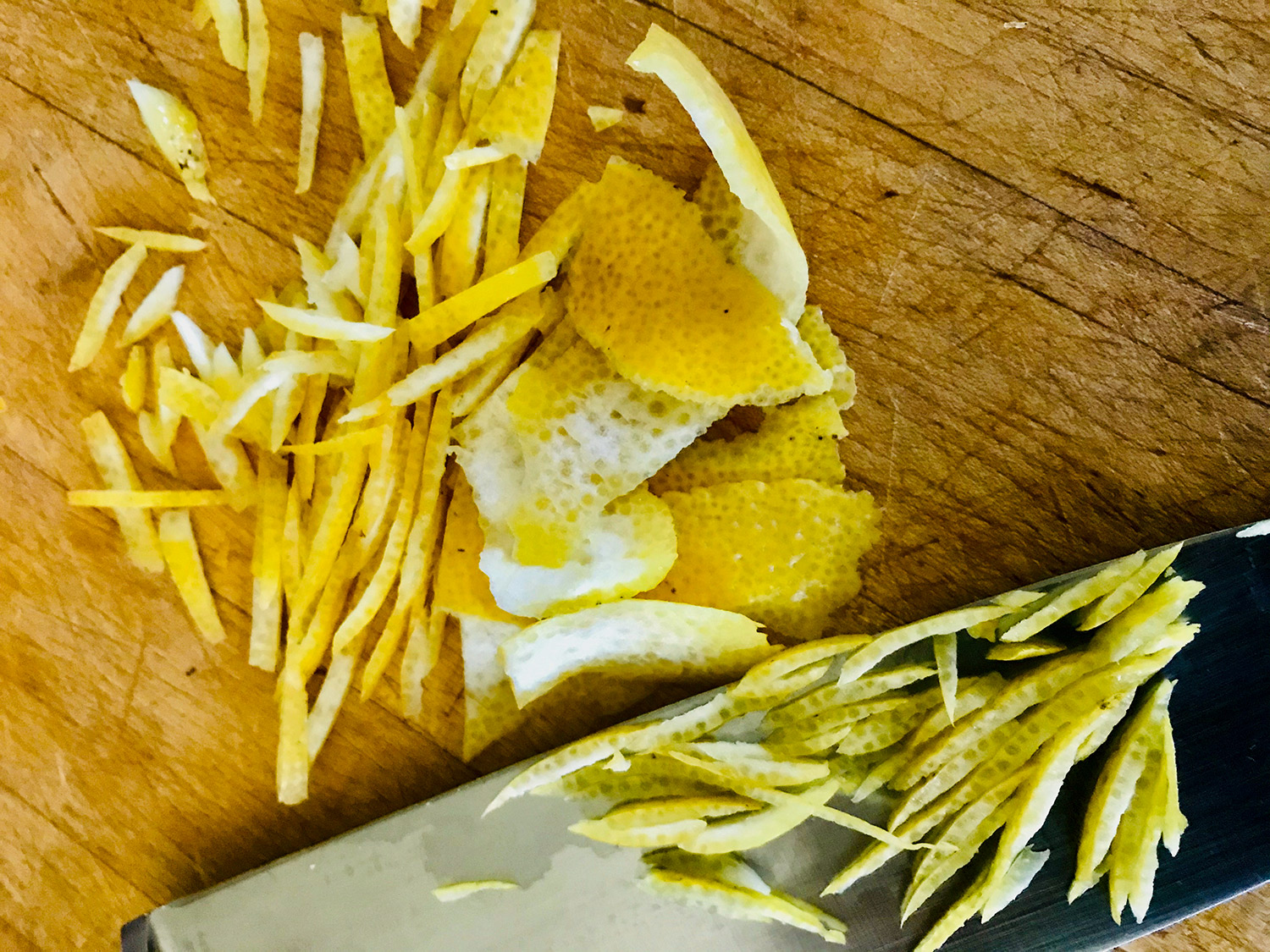 Lemon zest slices